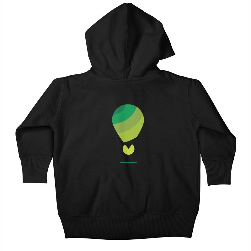 Midnight Hot Air Balloon Kids Baby Zip-Up Hoody by Avo G'day!