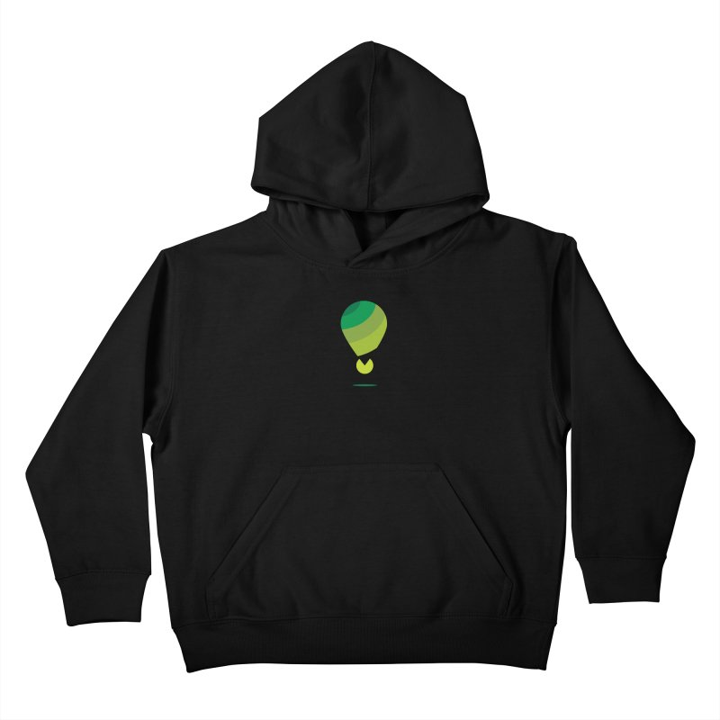 Midnight Hot Air Balloon Kids Pullover Hoody by Avo G'day!