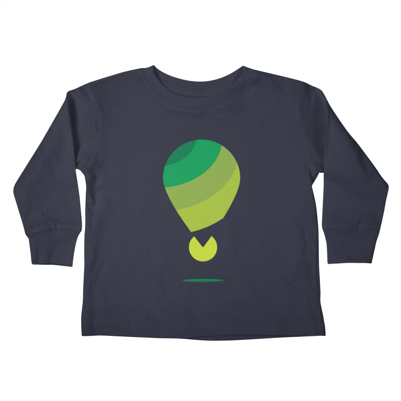 Midnight Hot Air Balloon Kids Toddler Longsleeve T-Shirt by Avo G'day!