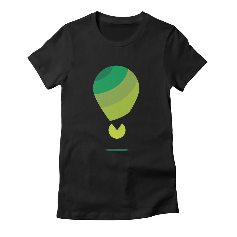 Midnight Hot Air Balloon Women's Fitted T-Shirt by Avo G'day!