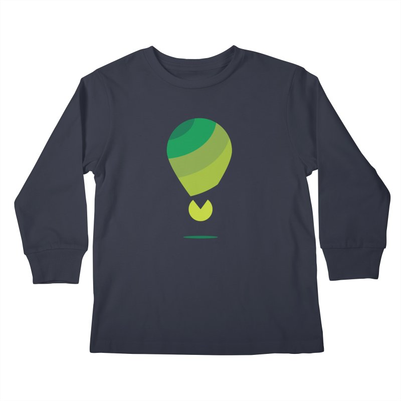 Midnight Hot Air Balloon Kids Longsleeve T-Shirt by Avo G'day!