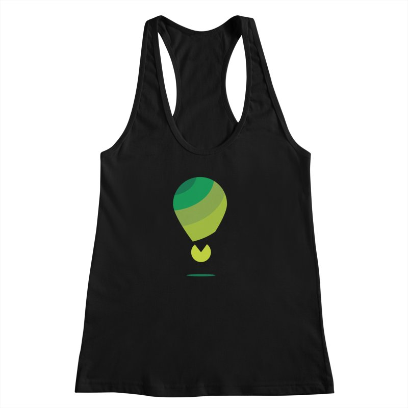 Midnight Hot Air Balloon Women's Racerback Tank by Avo G'day!