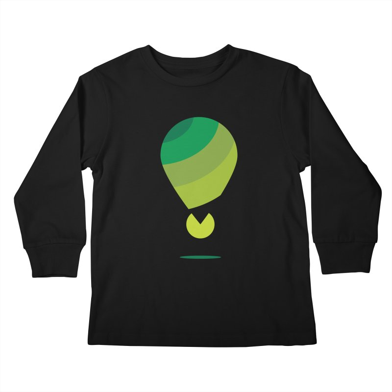 Midnight Hot Air Balloon Kids Longsleeve T-Shirt by Avo G'day!