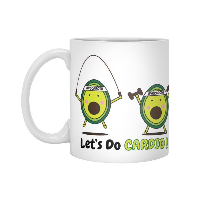Let's Do Cardio! Accessories Standard Mug by Avo G'day!