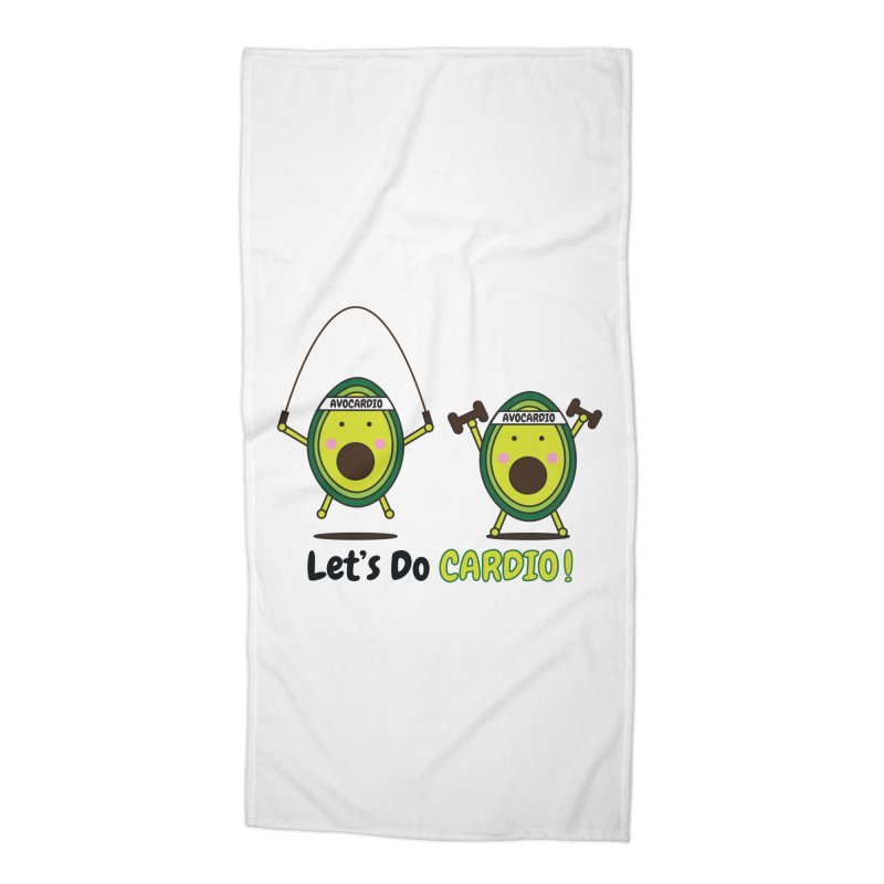Let's Do Cardio! Accessories Beach Towel by Avo G'day!
