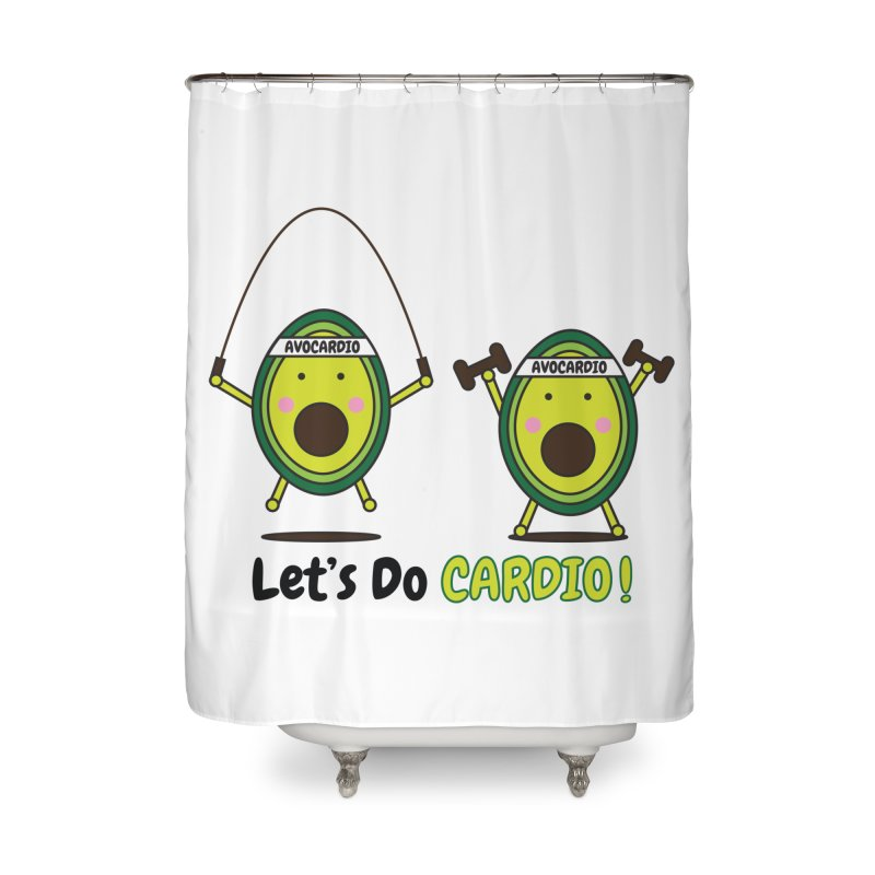Let's Do Cardio! Home Shower Curtain by Avo G'day!