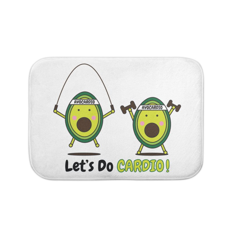Let's Do Cardio! Home Bath Mat by Avo G'day!