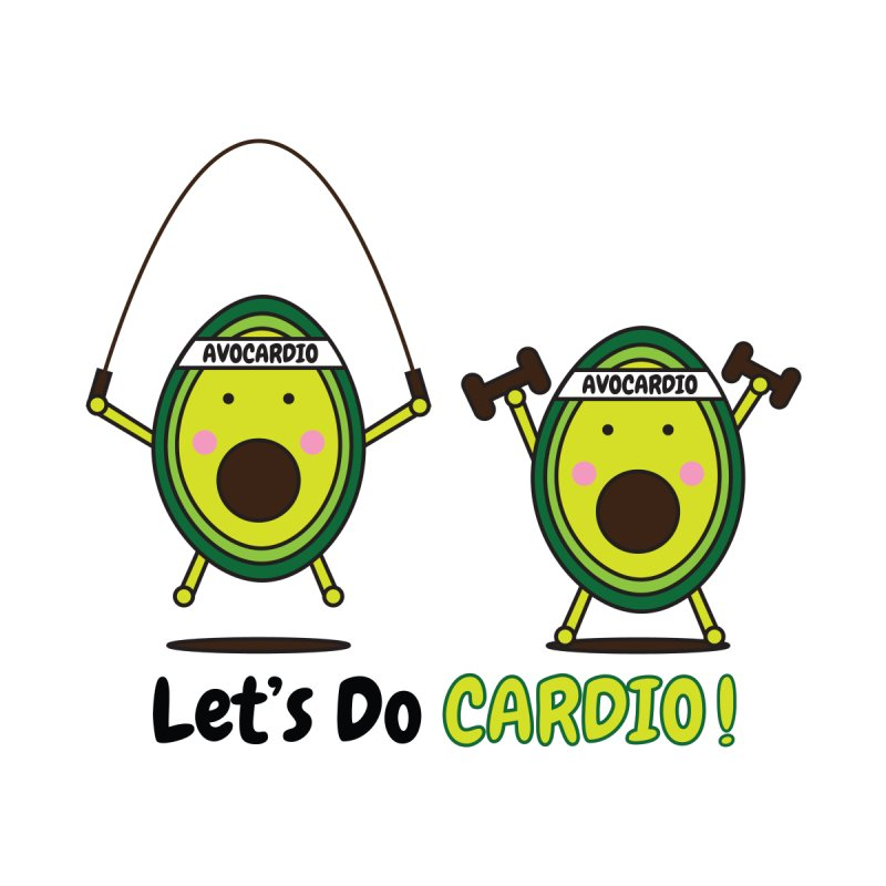 Let's Do Cardio! Kids T-Shirt by Avo G'day!