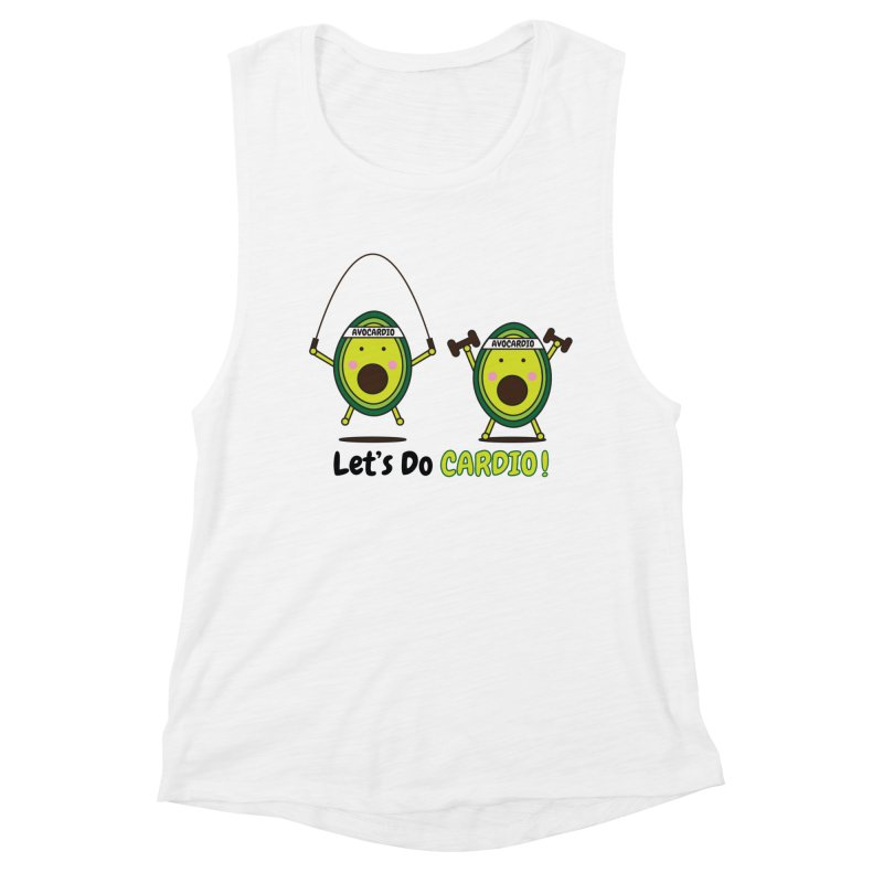 Let's Do Cardio! Women's Muscle Tank by Avo G'day!