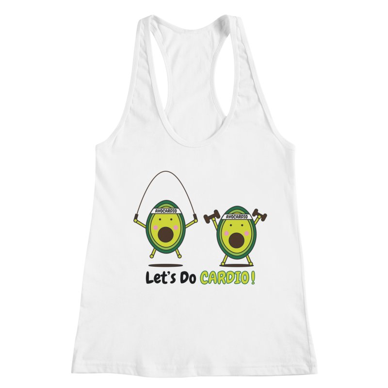 Let's Do Cardio! Women's Racerback Tank by Avo G'day!