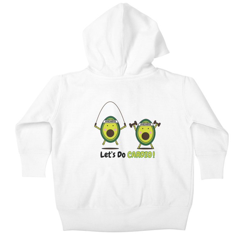 Let's Do Cardio! Kids Baby Zip-Up Hoody by Avo G'day!