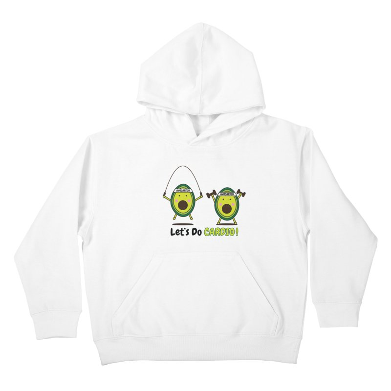 Let's Do Cardio! Kids Pullover Hoody by Avo G'day!