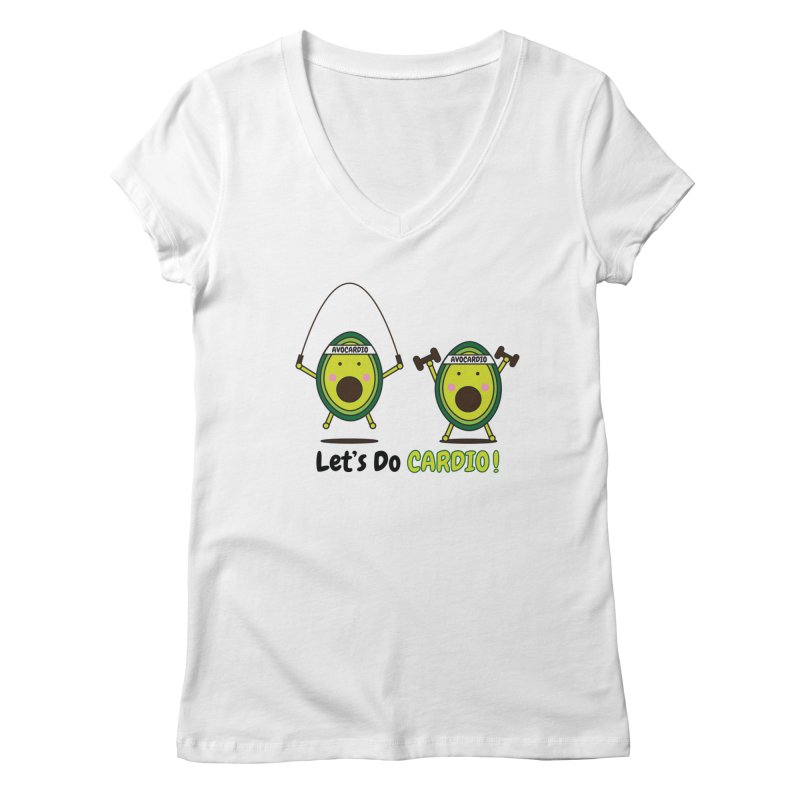 Let's Do Cardio! Women's V-Neck by Avo G'day!