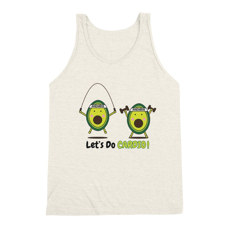 Let's Do Cardio! Men's Triblend Tank by Avo G'day!