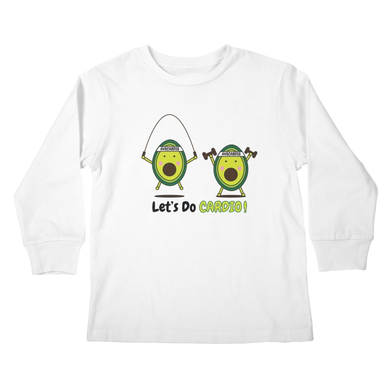 Let's Do Cardio! Kids Longsleeve T-Shirt by Avo G'day!