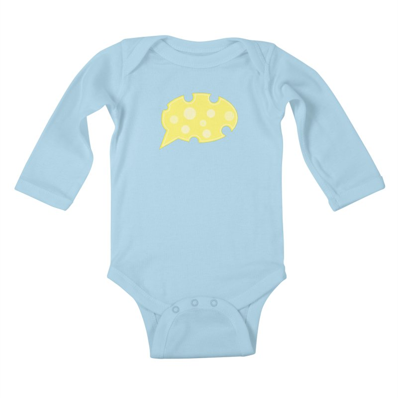 Say Cheese! Kids Baby Longsleeve Bodysuit by Avo G'day!