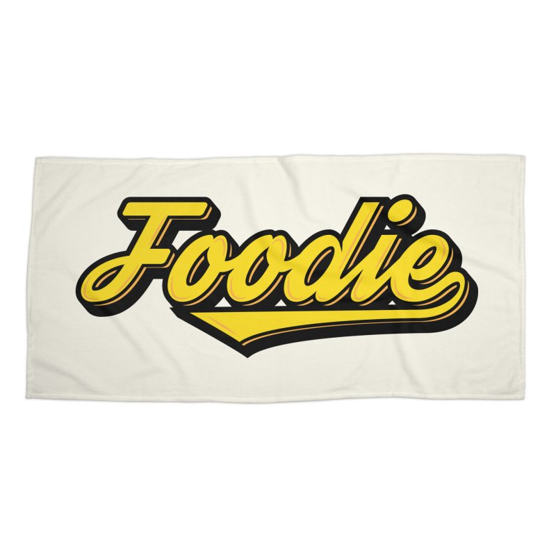 Foodie Accessories Beach Towel by Avo G'day!