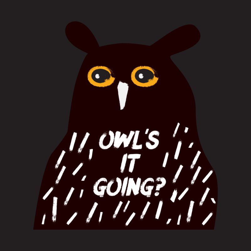 Owl's It Going? Men's V-Neck by Avo G'day!