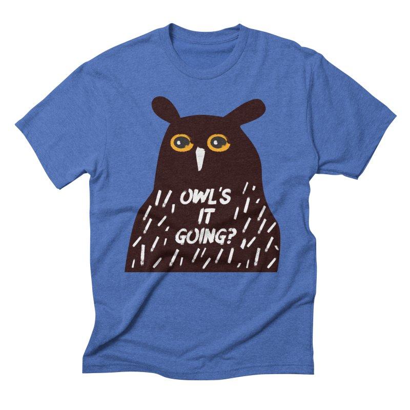 Owl's It Going? Men's T-Shirt by Avo G'day!