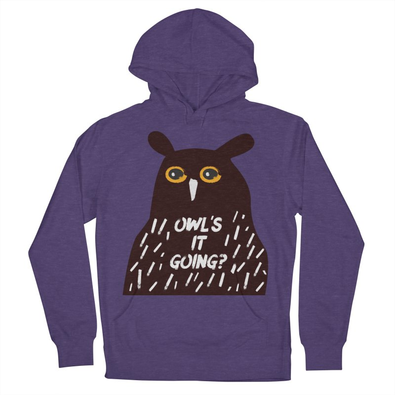 Owl's It Going? Men's French Terry Pullover Hoody by Avo G'day!