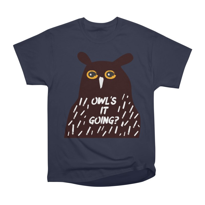 Owl's It Going? Men's Heavyweight T-Shirt by Avo G'day!