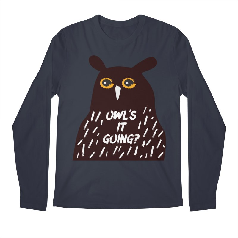 Owl's It Going? Men's Regular Longsleeve T-Shirt by Avo G'day!