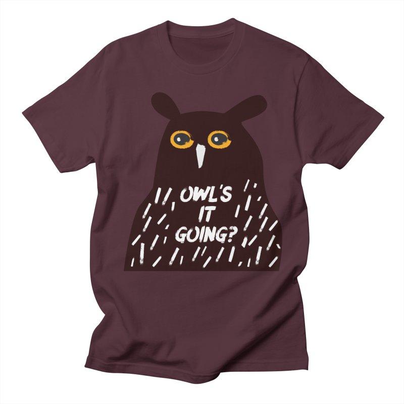 Owl's It Going? Men's Regular T-Shirt by Avo G'day!