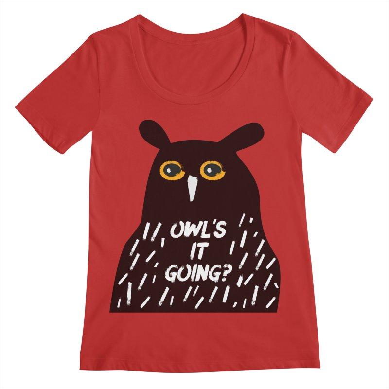 Owl's It Going? Women's Regular Scoop Neck by Avo G'day!