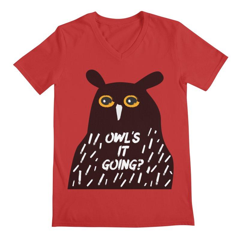 Owl's It Going? Men's Regular V-Neck by Avo G'day!