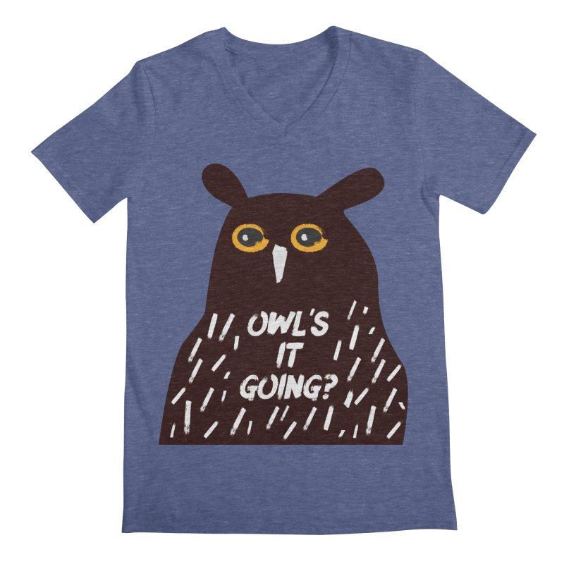 Owl's It Going? Men's V-Neck by Avo G'day!