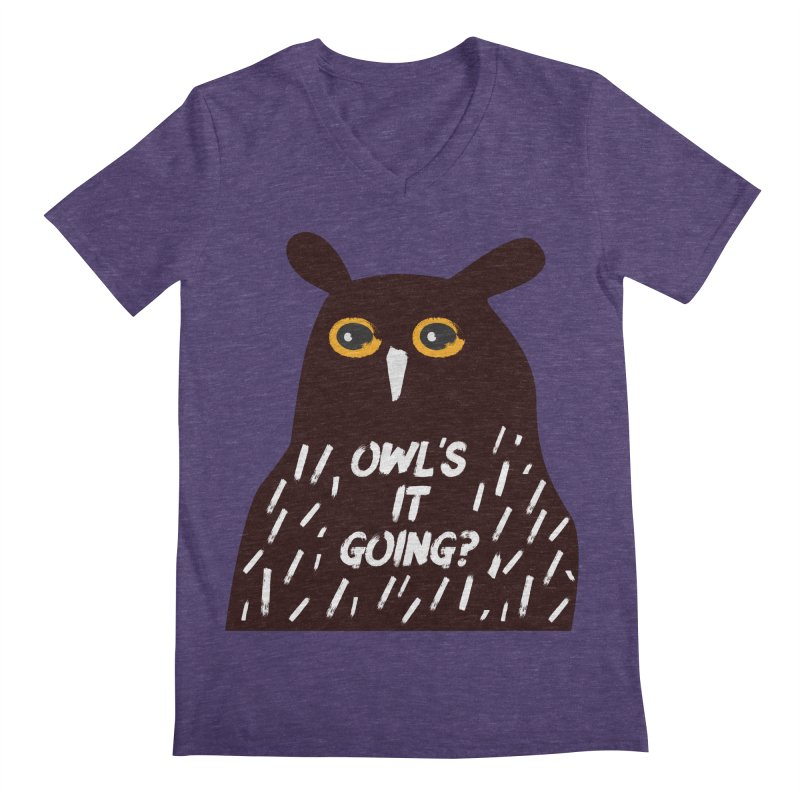 Owl's It Going? Men's Regular V-Neck by Avo G'day!