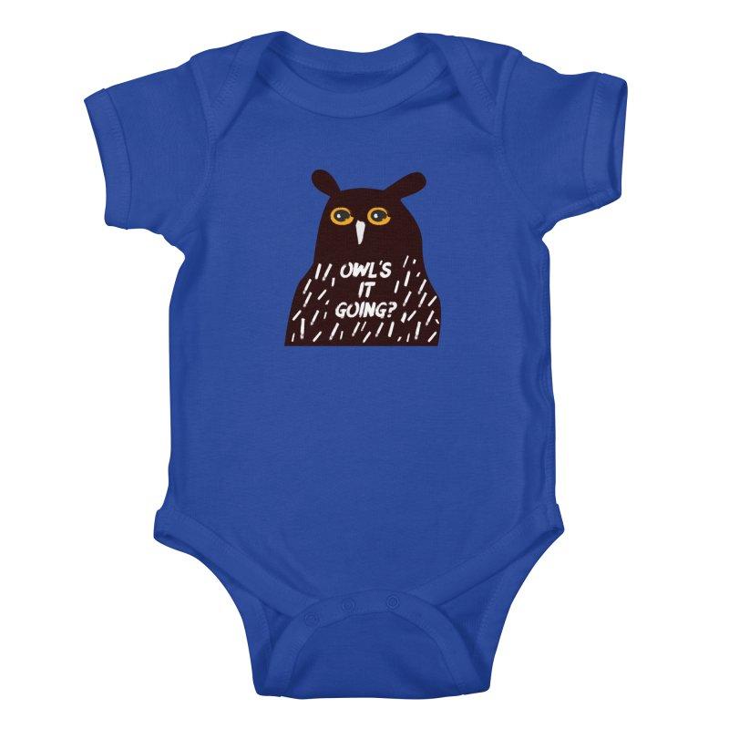 Owl's It Going? Kids Baby Bodysuit by Avo G'day!