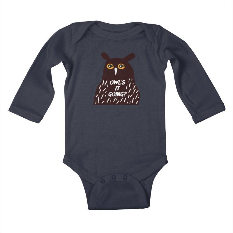 Owl's It Going? Kids Baby Longsleeve Bodysuit by Avo G'day!