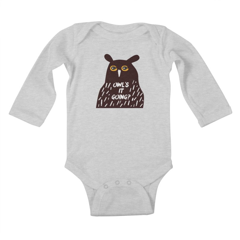 Owl's It Going? Kids Baby Longsleeve Bodysuit by Avo G'day!