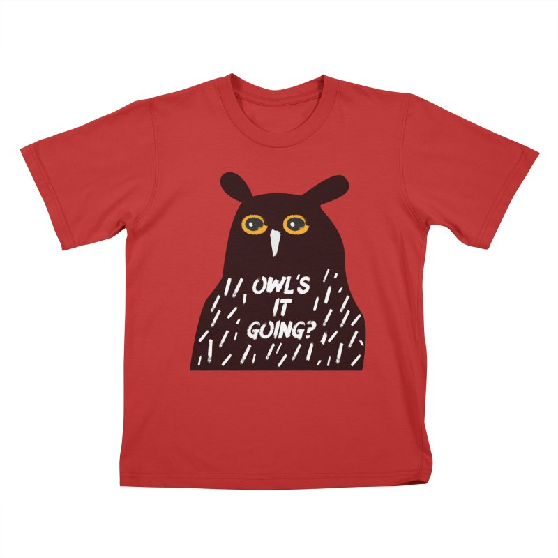 Owl's It Going? Kids T-Shirt by Avo G'day!