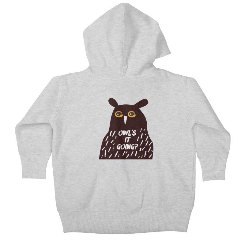 Owl's It Going? Kids Baby Zip-Up Hoody by Avo G'day!