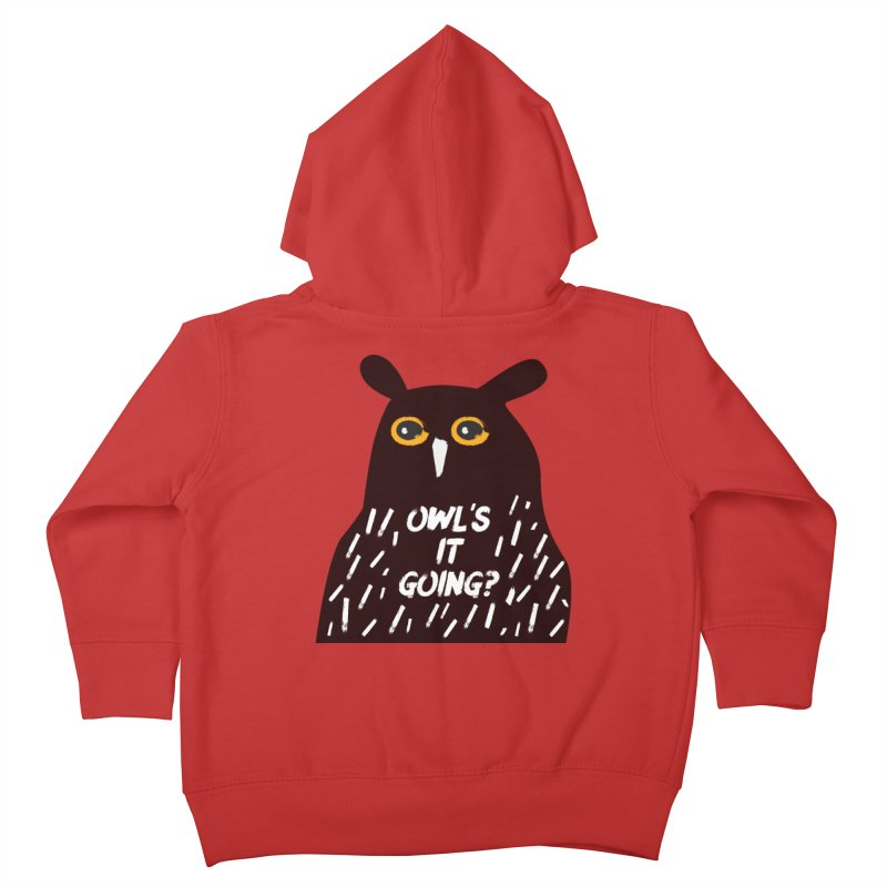 Owl's It Going? Kids Toddler Zip-Up Hoody by Avo G'day!