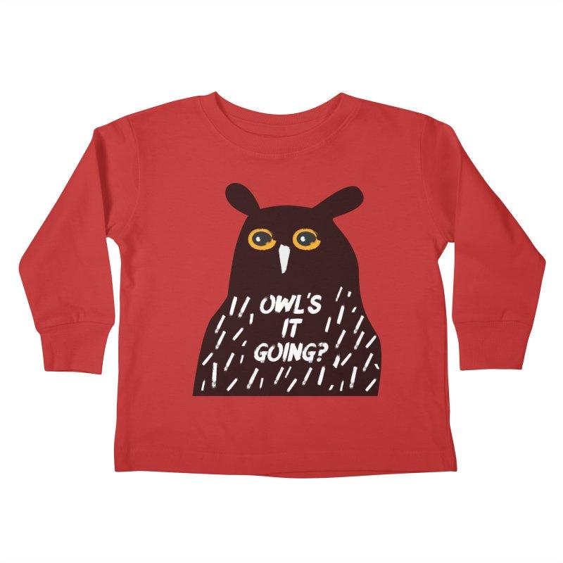 Owl's It Going? Kids Toddler Longsleeve T-Shirt by Avo G'day!