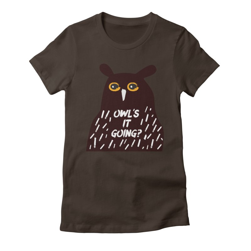 Owl's It Going? Women's Fitted T-Shirt by Avo G'day!