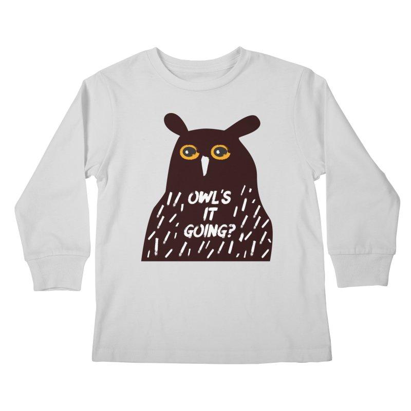 Owl's It Going? Kids Longsleeve T-Shirt by Avo G'day!