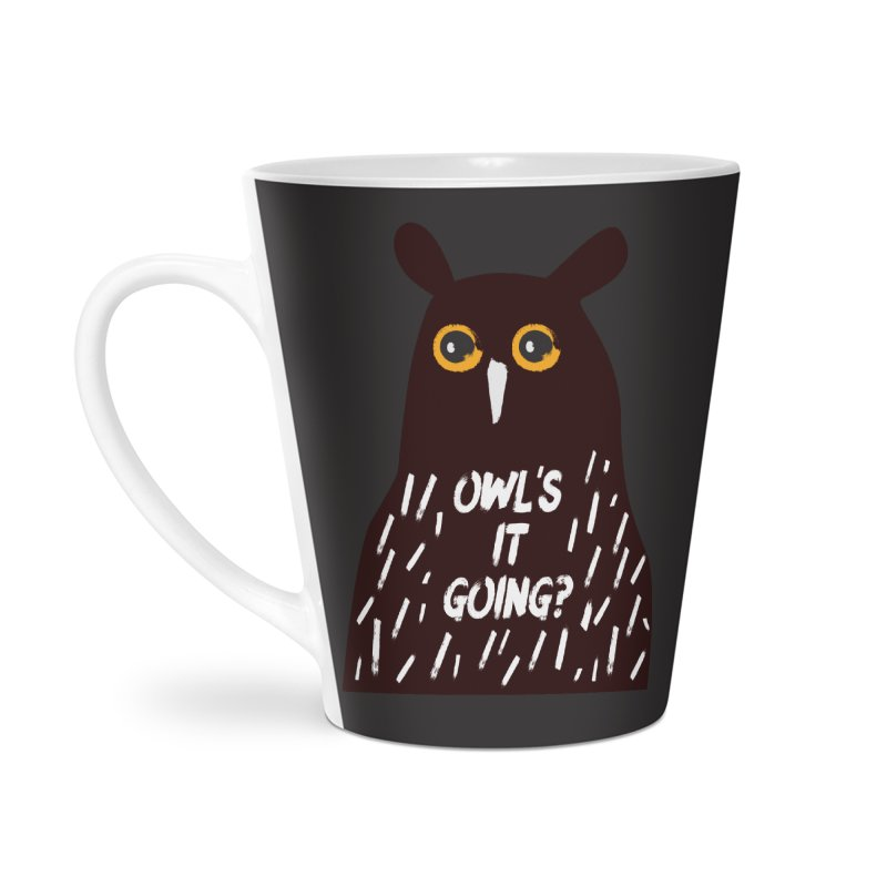 Owl's It Going? Accessories Latte Mug by Avo G'day!