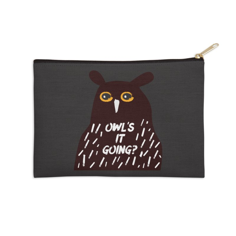 Owl's It Going? Accessories Zip Pouch by Avo G'day!