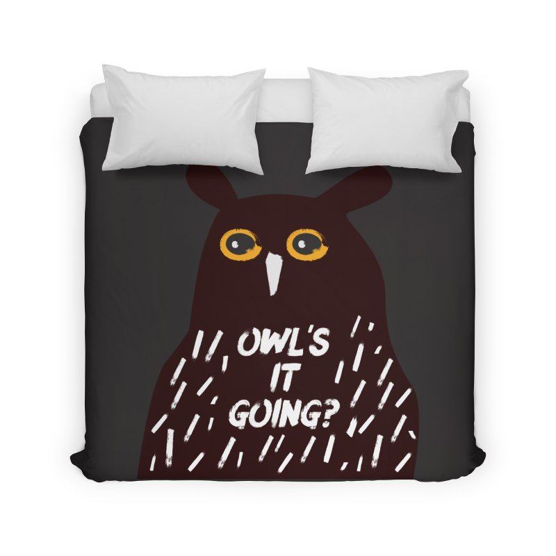 Owl's It Going? Home Duvet by Avo G'day!