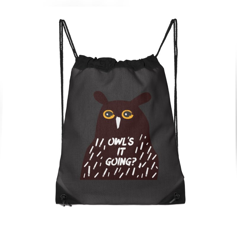 Owl's It Going? Accessories Drawstring Bag Bag by Avo G'day!