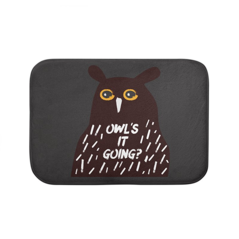 Owl's It Going? Home Bath Mat by Avo G'day!