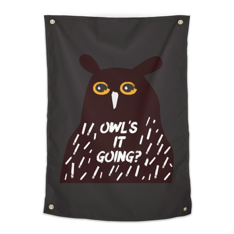 Owl's It Going? Home Tapestry by Avo G'day!