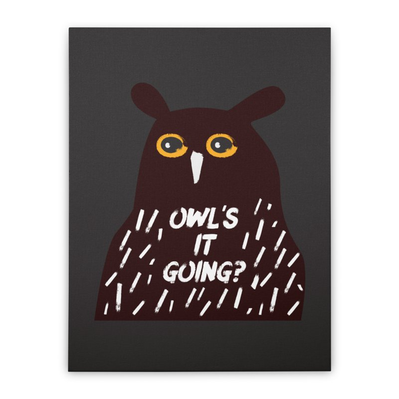 Owl's It Going? Home Stretched Canvas by Avo G'day!