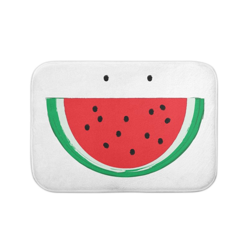 Happy Watermelon Home Bath Mat by Avo G'day!