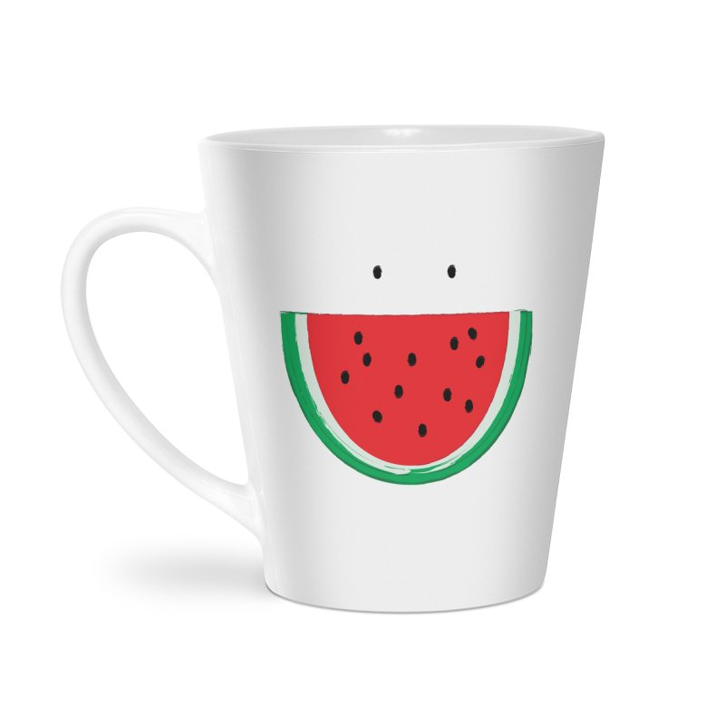 Happy Watermelon Accessories Latte Mug by Avo G'day!