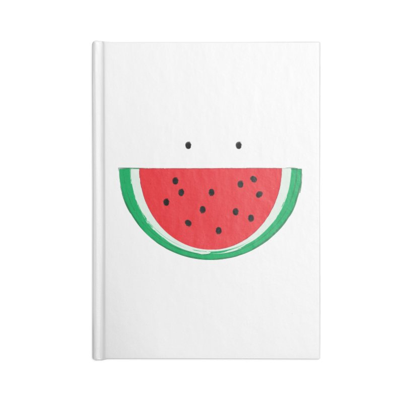 Happy Watermelon Accessories Lined Journal Notebook by Avo G'day!